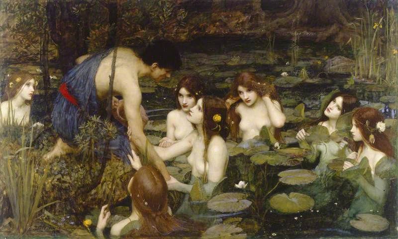 Waterhouse, John William, 1849-1917; Hylas and the Nymphs